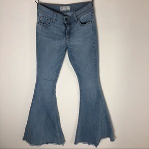 Free People light wash bell bottoms